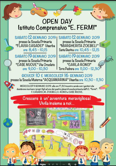 Open Day Scuola Infanzia Primaria Gennaio 2019 Www